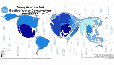 Image of worldwide bottled water consumption