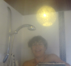 Cath in shower