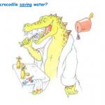 Saving Water - Chris the crocodile